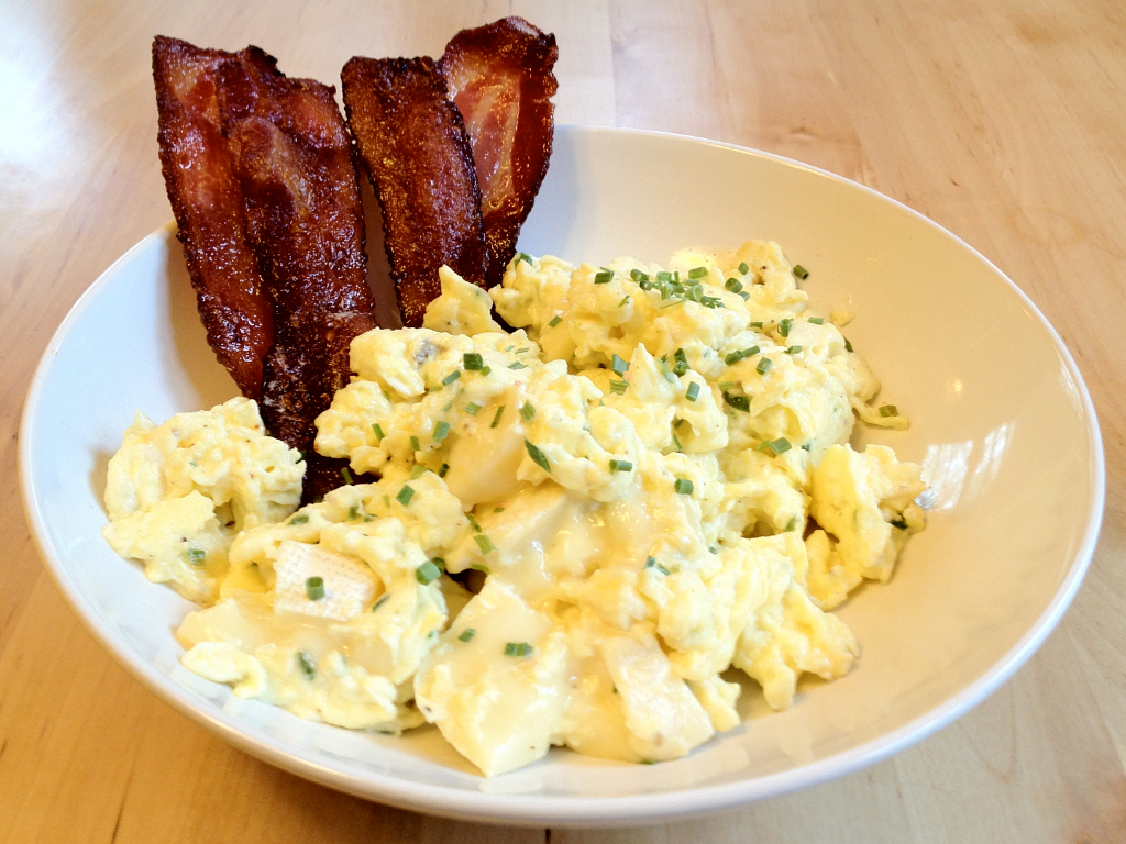 Scrambled Eggs With Chives And Brie